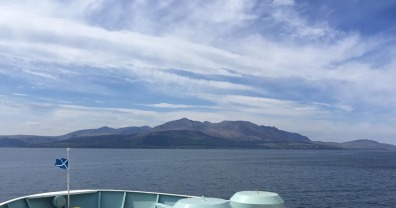 Sailing into the Arran on the ferry