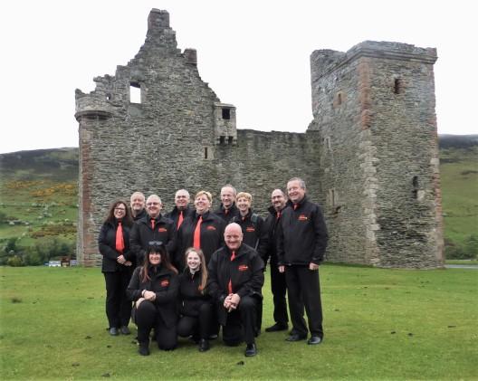 Brass Fusion at Lochranza Castle, Arran, 18 May 2019